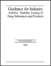 FDA Guidance: ANDAs Stability Testign of Drug Substances and Products
